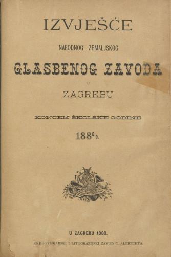 Izvješće narodnoga zemaljskoga glasbenoga zavoda